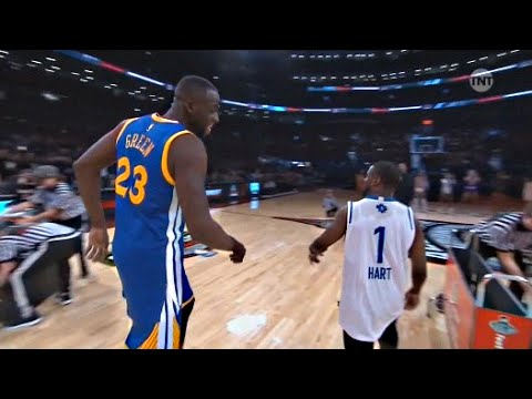 Kevin Hart vs Draymond Green - 3 point Shootout - 2016 All-Star Weekend