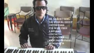 aaj humne dil ka har kissa tamam kumar sanu  karaoke by sanjay geel