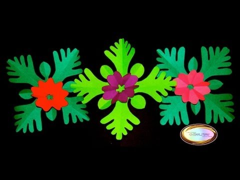 Origami Maniacs 106: Kirigami 1:Flowers and Leaves