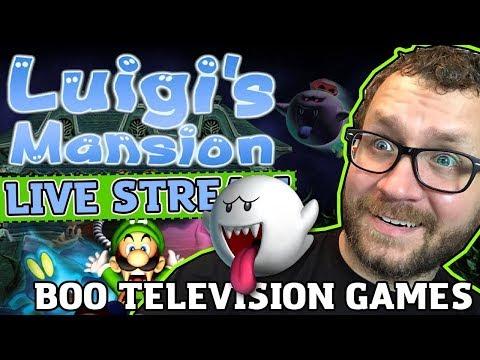Luigi's Mansion Live Stream #3 - Boo Television Games