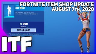 Fortnite Item Shop *NEW* OUT WEST EMOTE! [August 7th, 2020] (Fortnite Battle Royale)