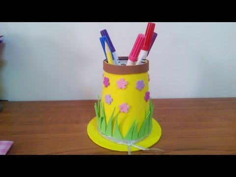 Creative Ideas - How to Make a Hat Pencil Holder  for Kids _ Preschool + Tutorial .