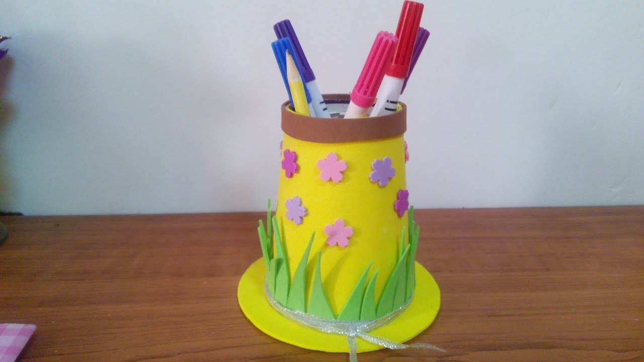 Creative Ideas How To Make A Hat Pencil Holder For Kids