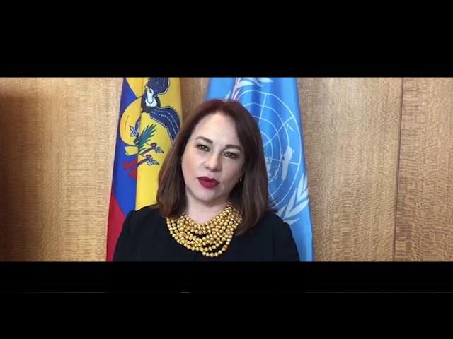 Mensaje de bienvenida de la Presidenta de la Asamblea de la ONU