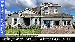 Winter Garden FL New Model Home Tour  4-6 Br 4-5 Baths  430990 Base Price  McAllister Landing