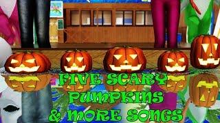 Five Scary Pumpkins & More Songs   Kids Songs   Nursery Rhymes   Baby Songs   Children Songs