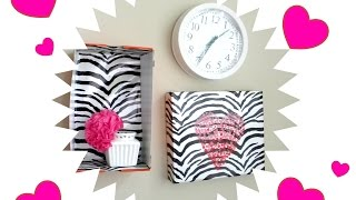 Diy Collage Wall Decor Using Wrapping Paper, Cardboard & Shoe Boxes