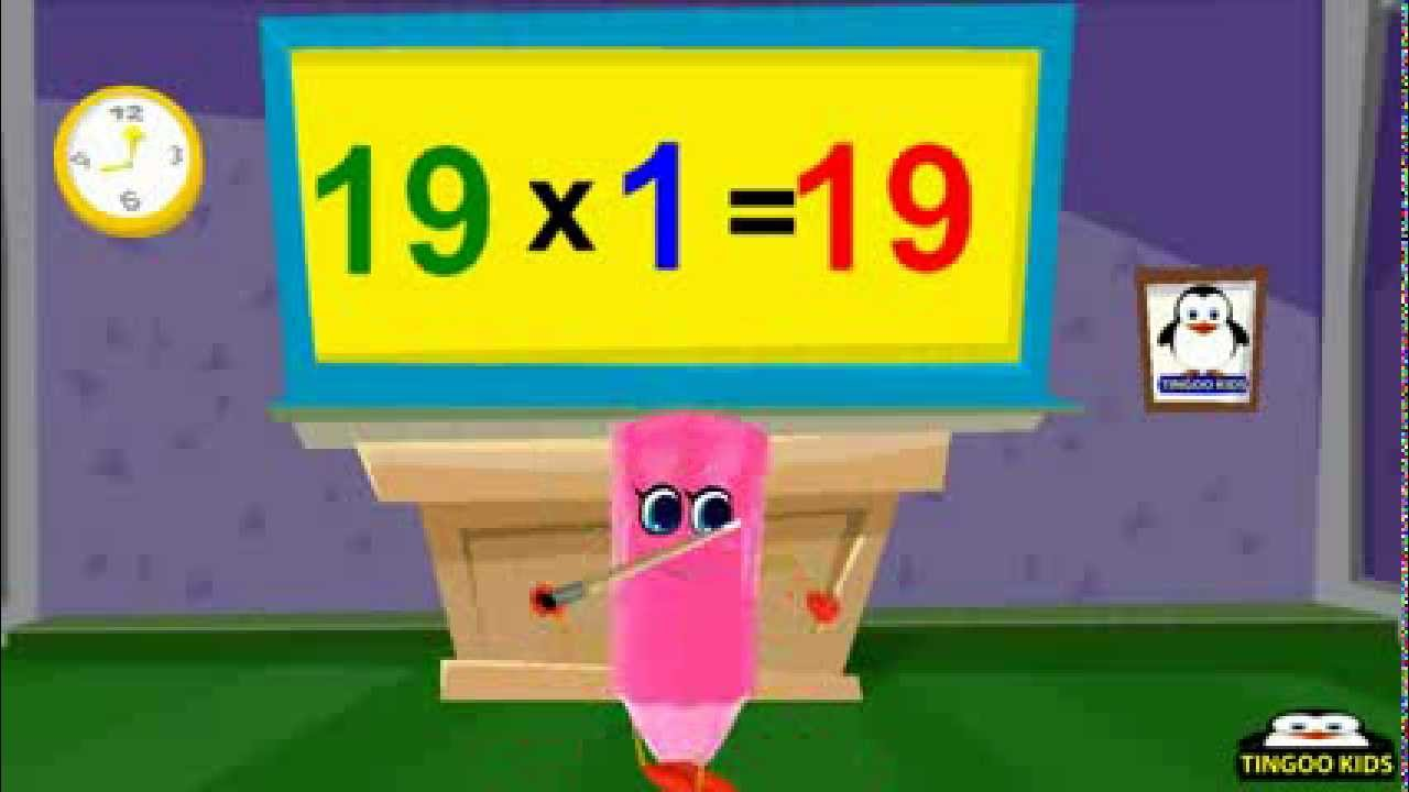 19 times table kids song nursery rhymes in english for 12 times table song youtube