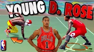 YOUNG Derrick ROSE SPOTTED Taking Ankles At The Playground ? - NBA 2K18