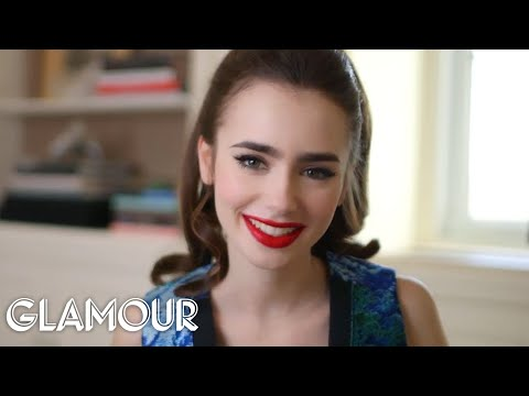 "Glamour Cover Star Lily Collins Plays a Little Game We Made Up Called ""Collins on Collins"""