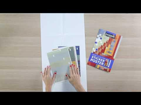 Poppik : un grand poster et des centaines de stickers colorés