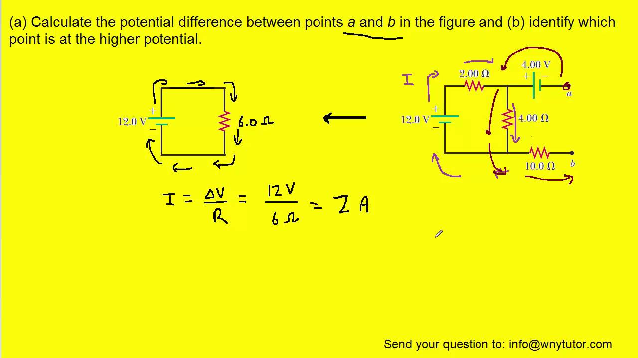 Define Parallel Circuit Calculate The Potential Difference Between Points A And B In Figure