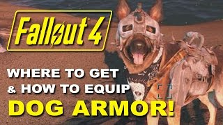 FALLOUT 4 Dogmeat s Dog Armor - Where to Find it How to Equip It Rare Armor Location Guide