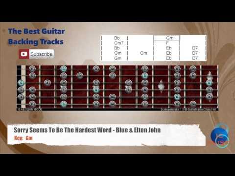Sorry Seems To Be The Hardest Word - Blue & Elton John Guitar ...