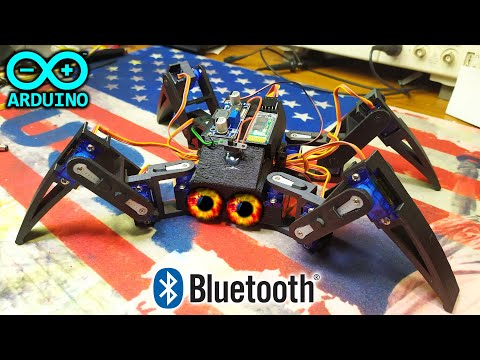 Робот Паук на Arduino C управлением по Bluetooth