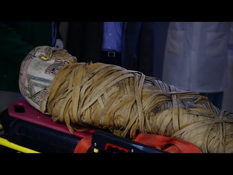 A mummy residing at the Cazenovia library was brought Sunday to Crouse Hospital …