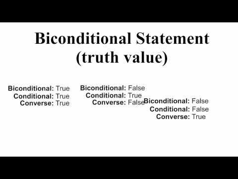 Biconditional statement? (truth value)