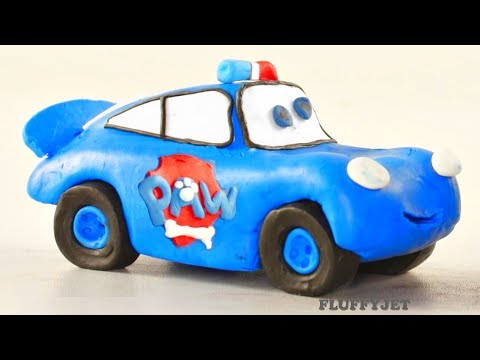 Disney Cars Play Doh Lightning McQueen videos Paw Patrol chase Toys and games for Kids and children