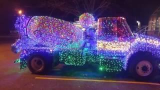 Dump truck light show