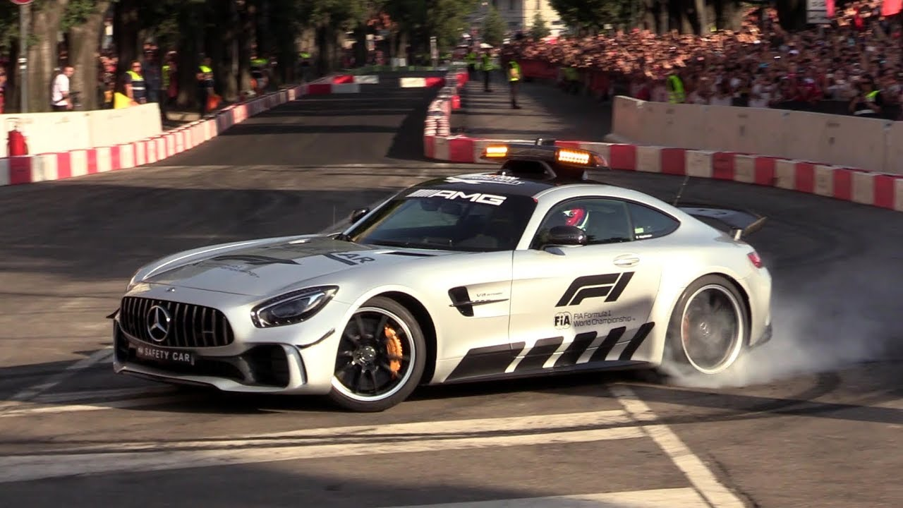 Mercedes Amg Gt R F1 Safety Car Donuts