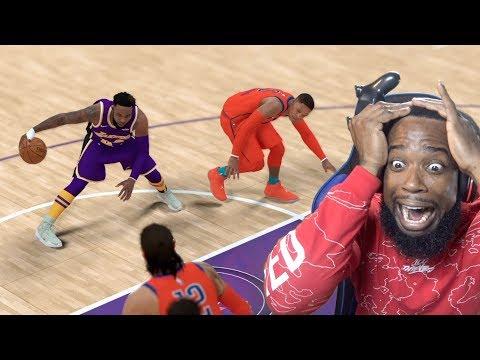 BREAKING RUSSEL WESTBROOK ANKLES! Lakers Vs Thunder NBA 2k19 MyCareer Ep.95 thumbnail