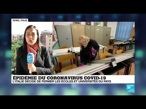 Épidémie du coronavirus: l'Italie décide de fermer toutes les écoles du pays