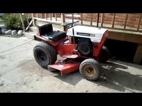 1967 Jacobsen Chief 1200 12 H.P. 42'' Cut Garden Tractor - YouTube on