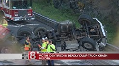 Victim identified in Milford fatal dump truck crash