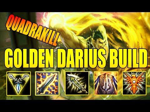 Darius TOP | Lên Đồ Vàng Khè Thè Lè Quất Được Quadrakill | Darius Giả Lập | Cách chơi và lên đồ