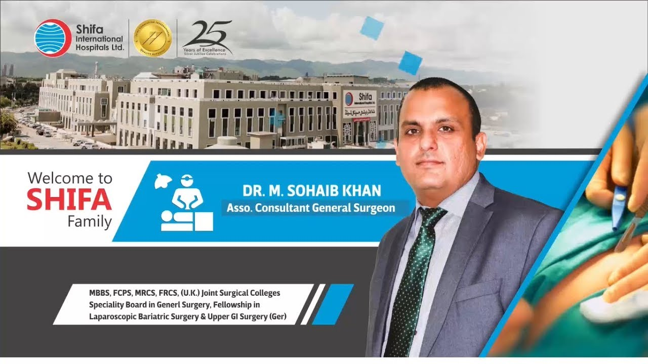 Our Doctors – Our Pride | Dr. Muhammad Sohaib Khan (Associate Consultant General Surgeon) #Generalsurgery