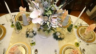 DIY | Dollar Tree Holiday Centerpiece and Tablescape