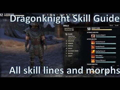 Best DK Skill Guide - Elder Scrolls Online [Dragonknights Don't Die Part II Skills]