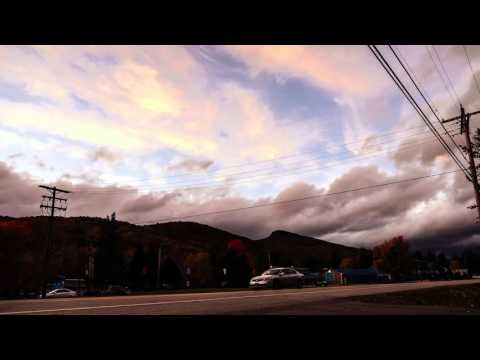A Lincoln, New Hampshire street view time lapse 10-15-2015