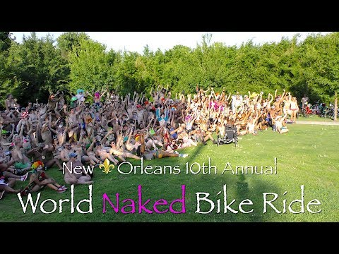 10th Annual NO⚜️LA World Naked Bike Ride: The Group Photo. Recorded by CANNABIS CAM in 4K UHD thumbnail