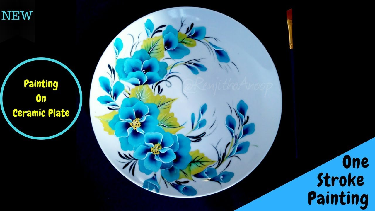Quick And Easy Floral Pattern One Stroke Painting Flowers On