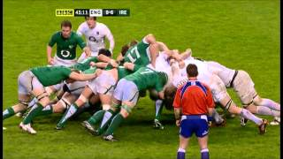 England rugby team manshame the Irish scrum for  80 minutes 2012 SIX NATIONS