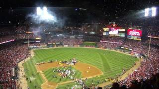St. Louis Cardinals 2011 World Series, Game 7 - Final Out & Fireworks!!!