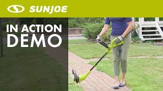 SB602E - Sun Joe Electric SharperBlade 2-in-1 Stringless Lawn Trimmer and Edge - Live Demo