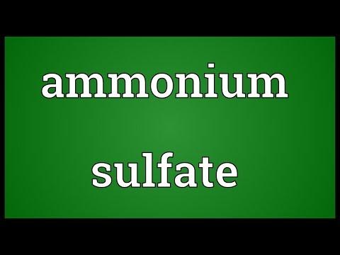 Ammonium sulfate Meaning