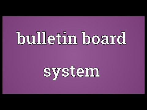 Bulletin board system Meaning