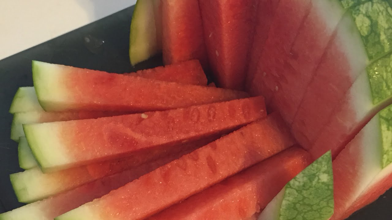 Watermelon cuts into sticks