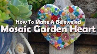 Mosaic Tutorials: How To Make A Mosaic Garden Heart