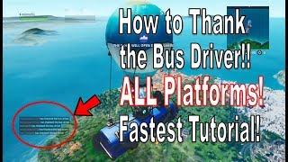Fortnite - Comment remercier le chauffeur de bus et terminer top 20 sur toutes les plateformes [Récompenses d'été]