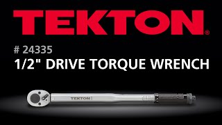 How to use the TEKTON 24335 1/2 in. Drive Click Torque Wrench