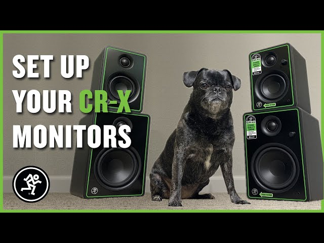 How To Set Up And Place Studio Monitors - Mackie CR-X