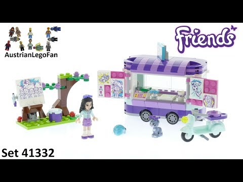 Lego Friends 41332 Emma´s Art Stand - Lego Speed Build Review