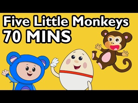 Five Little Monkeys Jumping On The Bed! And More | 52 Nursery Rhyme Cartoons From Mother Goose Club