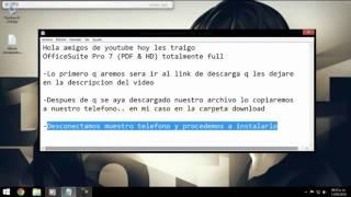 OfficeSuite Pro 7 (PDF, HD) ANDROID totalmente full (DESCARGA POR MEGA)