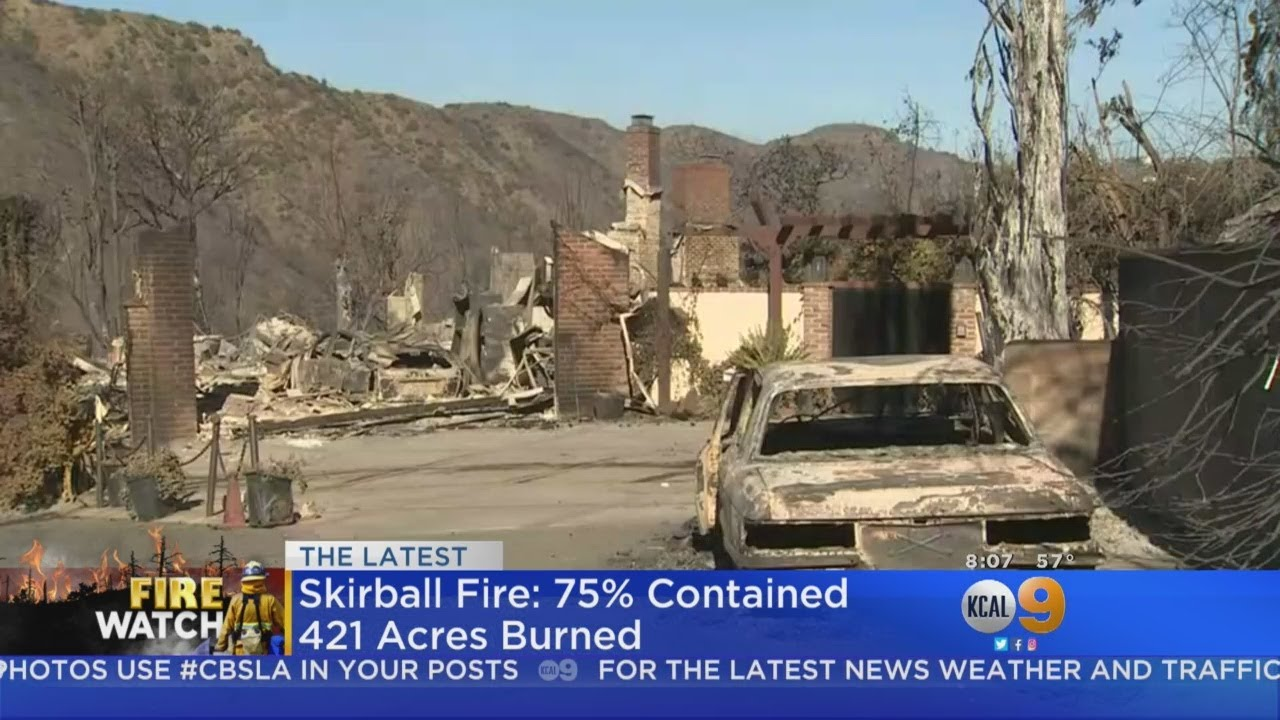 Skirball Fire In Bel Air Now 75 Percent Contained, Firefighters Say