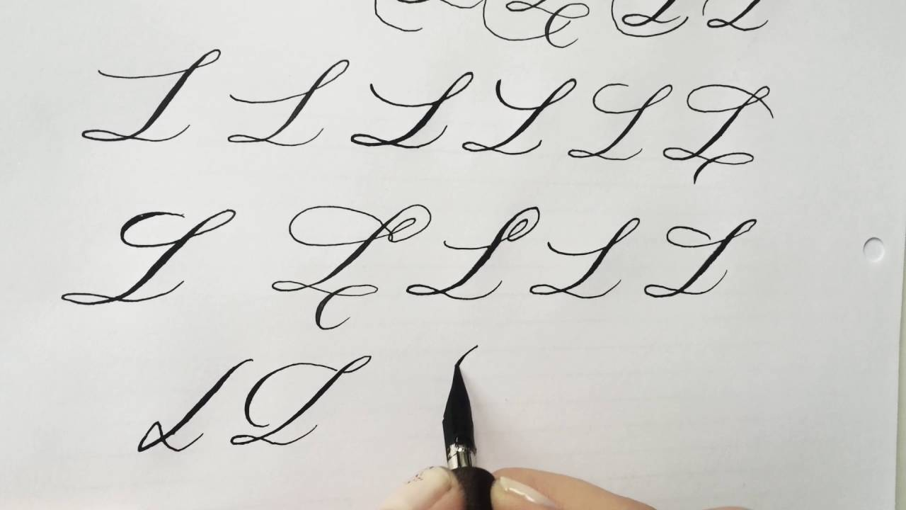 Modern Calligraphy Letter L